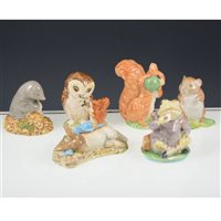 Lot 53-Collection of Beatrix Potter figures by Beswick and Royal Albert. (14)