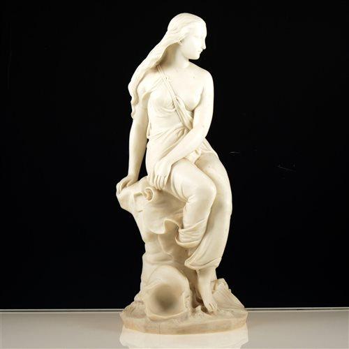 Lot 51-Minton Parion ware figure, 'Miranda', 39cm