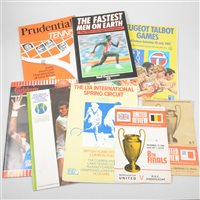 Lot 71-Assorted sporting ephemera including Rugby Union World Cup and Summer Olympics