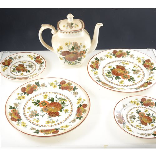 Lot 74-An extensive Franciscan earthenware dinner and tea service, Mandalay pattern.