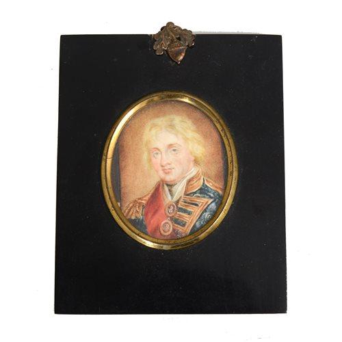 Lot 99-After John Hoppner, Admiral Lord Nelson, a rectangular portrait miniature.
