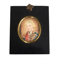 Lot 99-After John Hoppner, Admiral Lord Nelson, a rectangular portrait miniature.