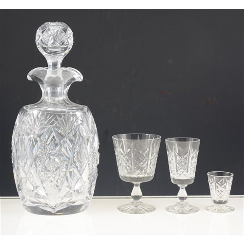 Lot 44-Small collection of lead crystal including Stuart crystal.