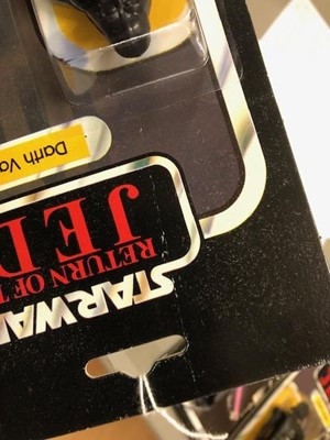 Lot 261 - Star Wars figure Darth Vader, Palitoy, sealed in original Return of the Jedi blister pack box, punched 65 back.