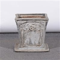 Lot 512-A British Arts and Crafts lead planter.