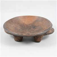 Lot 79-African tribal carved wooden bowl