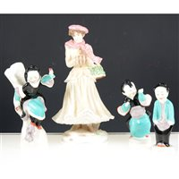 Lot 34-A collection of nine Royal Worcester figurines (9)
