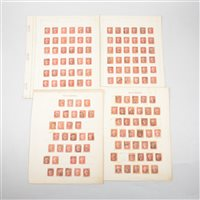 Lot 103-GB stamps: Penny Reds, a carefully collated collection