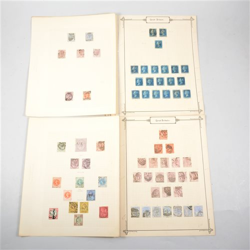 Lot 104-GB stamps: Victorian issues, from Twopence Blue perforated onwards