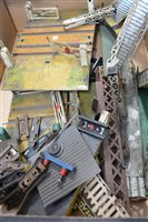 Lot 42-Hornby O gauge track-side buildings etc