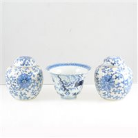 Lot 6-A Quantity of Chinese blue and white porcelain