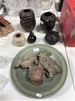 Lot 16-A quantity of Chinese earthenware and pottery items