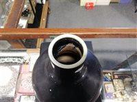 Lot 53-Chinese aubergine monochrome vase