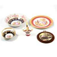 Lot 34-Small collection of Le Tallec and Limoges porcelain.