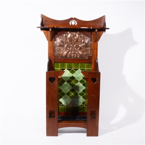 Lot 514-A good Art Nouveau hall stand, by Norman & Stacey, circa 1910