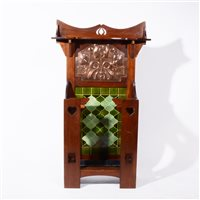 514 - A good Art Nouveau hall stand, by Norman & Stacey, circa 1910
