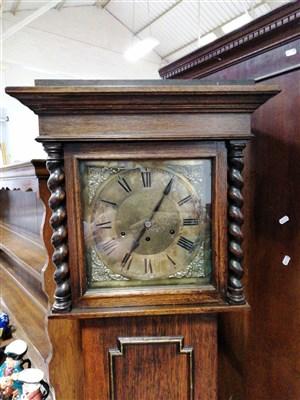 Lot 199-Oak longcase clock, 20th Century, ...