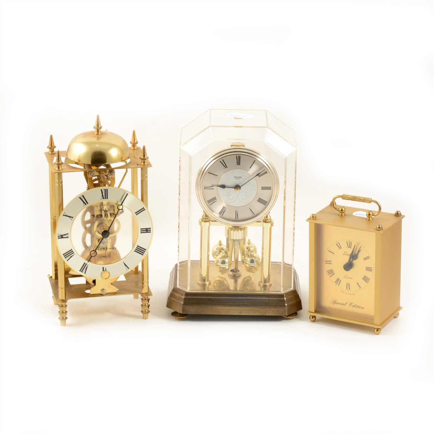Lot 119-Reproduction skeleton type clock, Sewills, Liverpool, ...