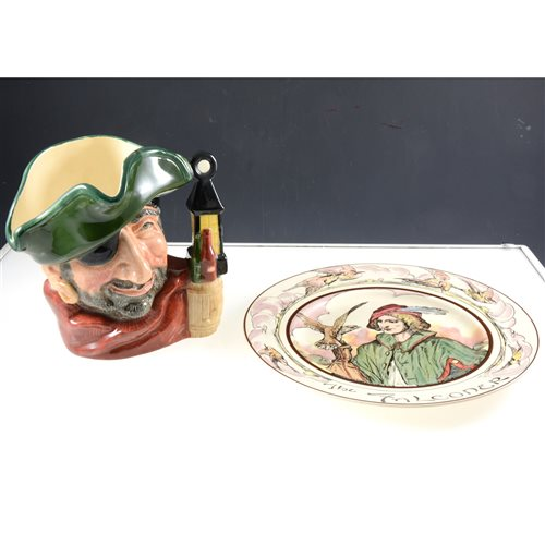 Lot 57-Royal Doulton character jug, Smuggler, six series ware plates, and a part Staffordshire dinner service..