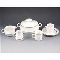 Lot 71-A Bavarian porcelain dinner service, twelve-place setting.