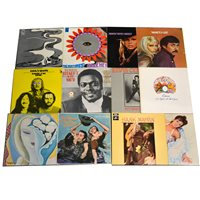 Lot 59-Vinyl LP music records; a selection to include: The Ventures, Queen, Roxy Music etc.