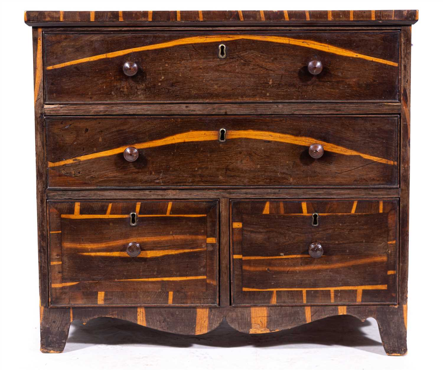 Lot 463-A William IV calamander chest of drawers