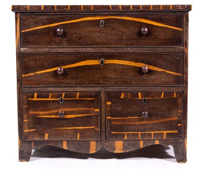 463 - A William IV calamander chest of drawers