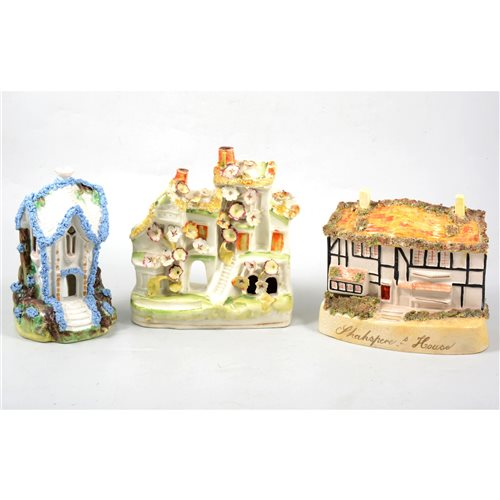 Lot 52-A collection of fifteen Staffordshire 19th Century cottages and pastille burners.