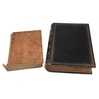 Lot 79-Family Bible printed by Cassell, and one other disbound volume, (2).