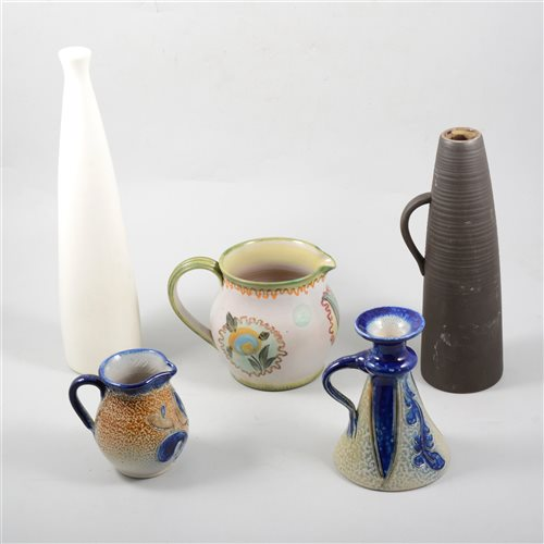 Lot 47-Denby stoneware shouldered vase, 36cm, other stoneware, art pottery, etc,  (2 boxes).
