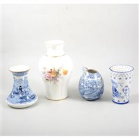Lot 55-A quantity of decorative ceramics including a Royal Crown Derby vase, a Coalport commemorative goblet, etc.