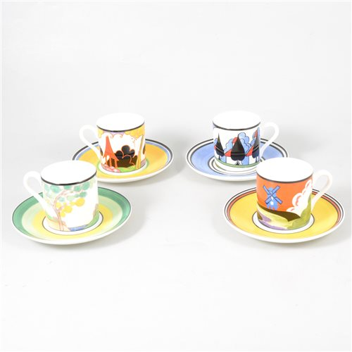 Lot 19-A quantity of limited edition Wedgwood Clarice Cliff wares.