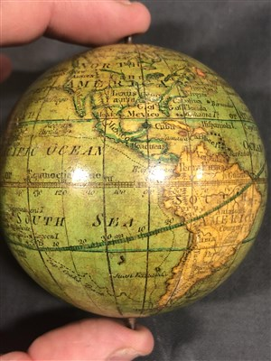 Lot 87-Lane's Pocket Globe, London 1809