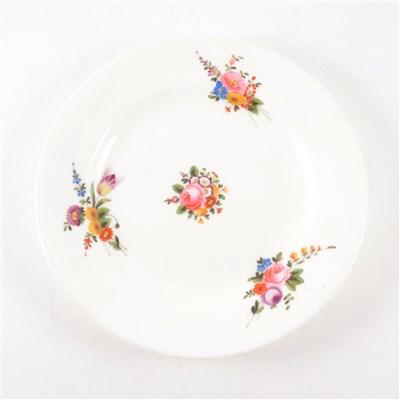 Lot 11-Welsh porcelain dessert plate, Nantgarw, circa 1820