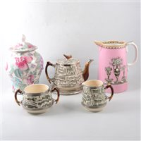 Lot 17-Three boxes of decorative and vintage ceramics, including Shelley, Poole, Wedgwood and others.