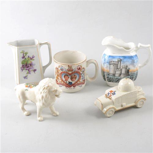 Lot 10-Crested ware ceramics and commemorative ceramics, two boxes.