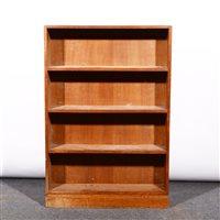 Lot 504-An English Arts & Crafts style oak bookcase