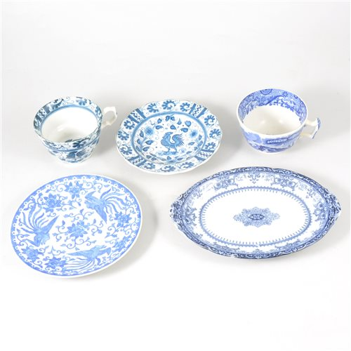 Lot 18-A quantity of blue and white table ware, including Spode Copeland