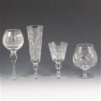 Lot 46-A quantity of cut-glass crystal tableware