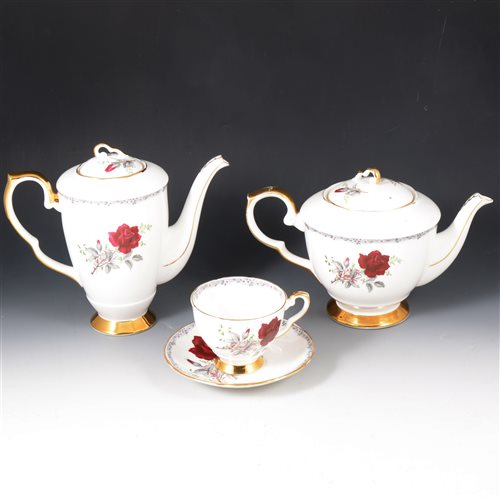 Lot 36-A quantity of Spode, Bunnykins and Roses To Remember full tea and coffee services, plus other ceramics.