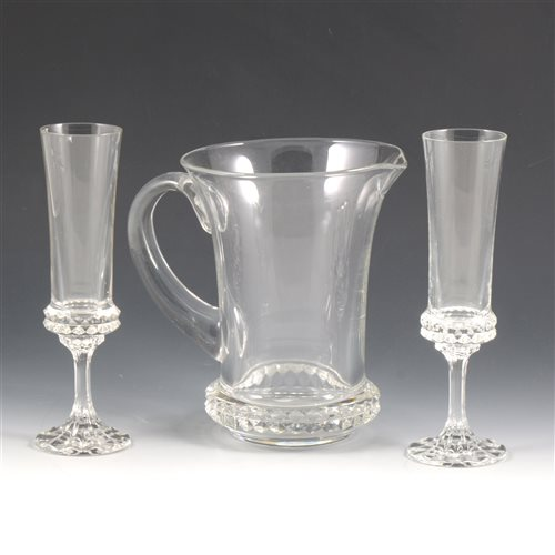 Lot 50-A quantity of Villeroy & Boch crystal wine glasses and water jug.