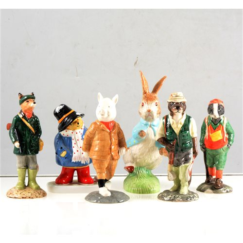 Lot 22-A collection of Beswick and Coalport figures including Beatrix Potter.