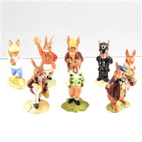 Lot 51-A collection of twenty one Royal Doulton Bunnykins and seven Brambley Hedge figures, unboxed