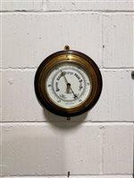 Lot 179-A brass drum cased ship's barometer