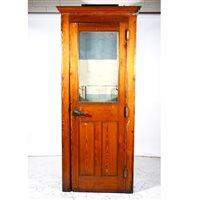 Lot 502-A pitch pine internal telephone kiosk