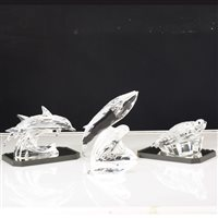 "Lot 61-Swarovski SCS Collectors Society ""Mother & Child"" trilogy - 'Dolphins', 'Seals' and 'Whales', members only annual editions 1990-1992. (3)"