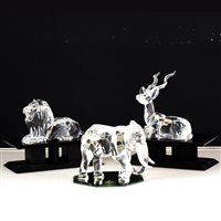 "Lot 60-Swarovski SCS Collectors Society ""Inspiration Africa"" trilogy"