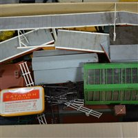 Lot 15-OO gauge model railway; including Tri-ang RS3 electric set, etc