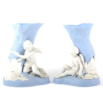 Lot 30-A pair of limited edition Genius Collection vases, 'Cupid and Psyche', by Wedgwood.