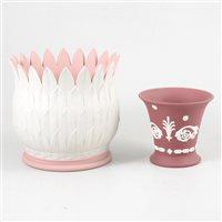 Lot 56-Two Wedgwood jasperware vases